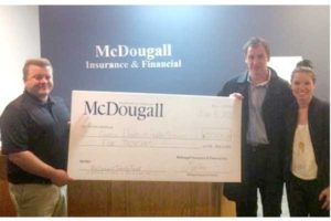 Cheque presentation for McDougall Family Fund 2015