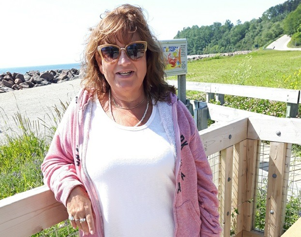 Catharine Wright at the bay of fundy