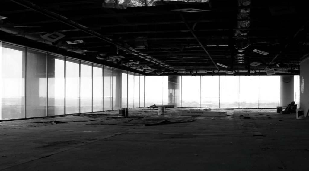 Empty floor of a commercial business